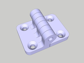 Hinge / M4 screws / 25mm offset