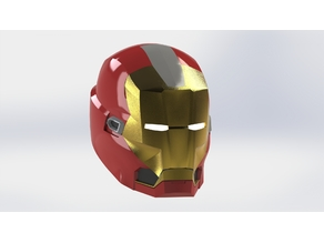 Iron Man Red Snapper mk35 Helmet
