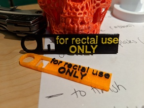 For Rectal Use Only Keychain