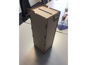 Self-locking laser-cut ballot box