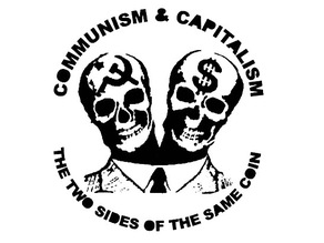 Communism and Capatalism stencil
