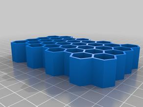 hexagonal vial holder/organizer