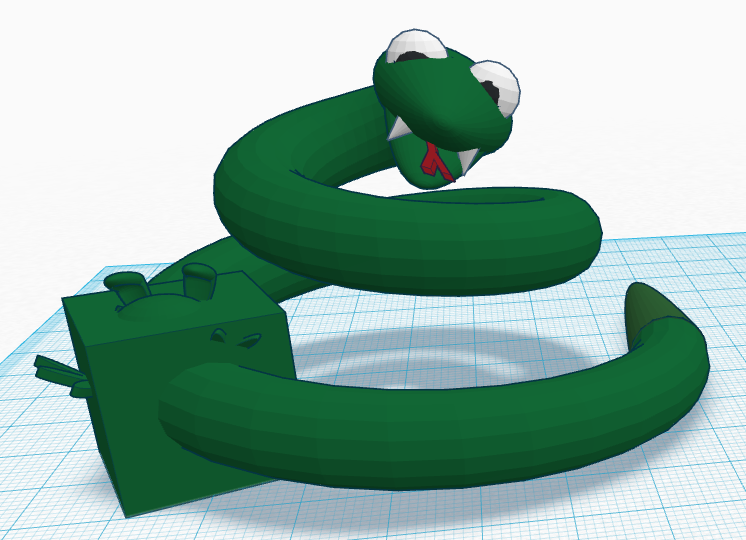 Snake with full belly 3D model