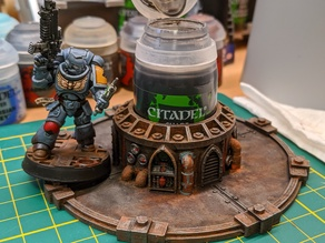 Themed Citadel Paint Holder - 40k Style