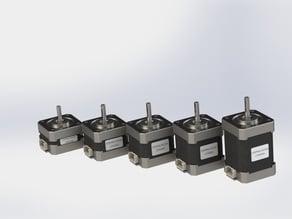 Stepper Motors serie 17HS2408 - 17HS3401 - 17HS4401 - 17HS8401 - 17HS6401