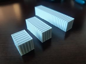 N scale 1:160 Shipping container 10ft, 20ft, 30ft,40ft MiniRailway