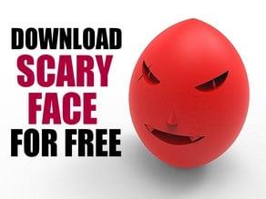 Scary Spooky Face