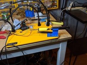 TS100 Quad hands holder with magnetic flux integration