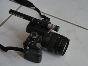 Astronomy green laser mount for camera hotshoe, telescope or barndoor mount