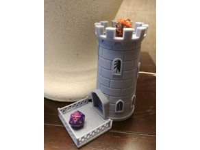 Dice Tower sized for resin printers