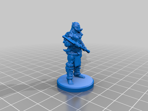 Orc Spearman Pose 1