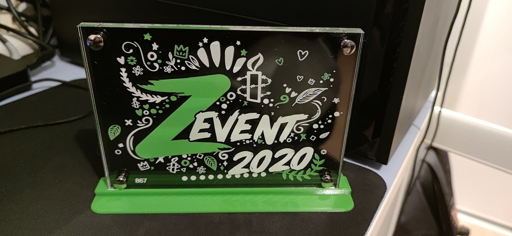Support plaque trophy ZEVENT 2020
