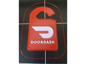 DoorDash Rear View Mirror Hang Tag