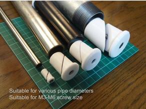 Customizable pipe cap (fusion360)