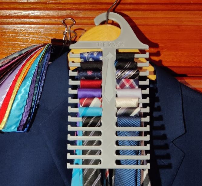 Tie Rack - Durable Low Profile Hanger (Holds 26 Ties)