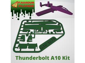 FAMOUS PLANES - Thunderbolt A10 kit card