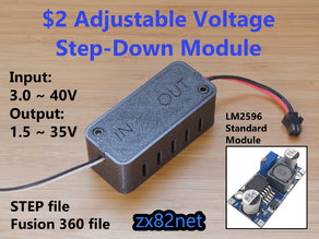 Adjustable Voltage Step Down Box: Output 1.5-35V LM2596