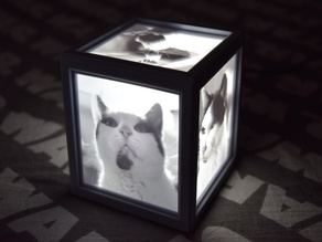 Easy to build Lithocube - 11cm Lithophane Box - Cube