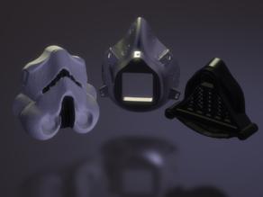 Star Wars Face(sars)mask (preventive & experimental ;) )  Chewbacca Stormtooper Darthvader