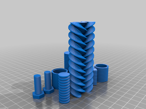 bolts, nuts, threaded rods - OpenSCAD library Threading.scad