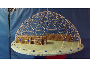 TPU connectors for geodesic dome model (made of bamboo skewers)