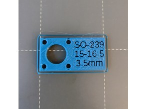 UHF Connector (SO-239) Jig / Stencil