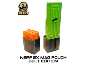 Nerf 1x or 2x Mag pouch belt edition