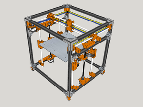 HyperCube Evolution 2020 - Reinforced, Captive Nuts, Easy Print