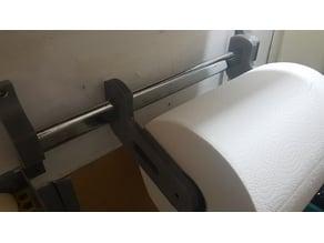Adjustable JUMBO Paper Towel Holder (Adjustable Width)  using wardrobe tube