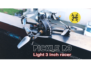 Pickle R3 : 3 inch light micro racer frame