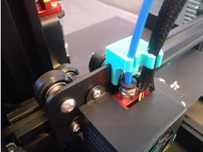 hotend bowden tube and cables holder - no zip ties remix