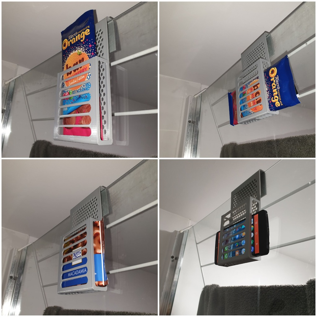 Shower phone caddy / chocolate holder