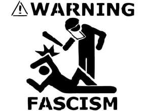Warning Fascism stencil