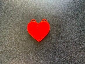 Heart Keychain Pair