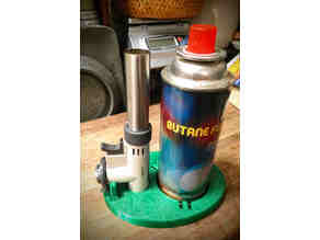 Stand for Iwatani torch & butane canister (updated: 9/7/2020)