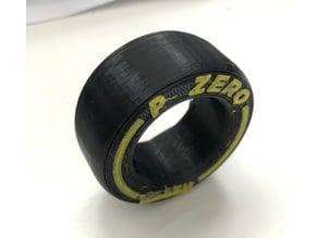 F1 Formula one parameterized tyre/tire generator, configurable openscad