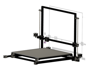 500mm x 500mm x 550mm 3d printer