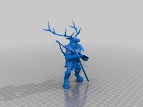Cervidae Folk (Shatjan) ranger with wood block shoulders