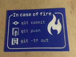 In case of fire (Programming humor)