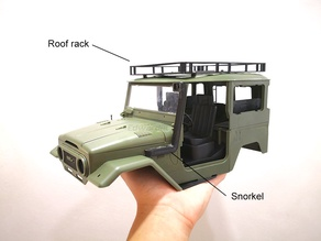 WPL C34 Roof Rack & Accessories