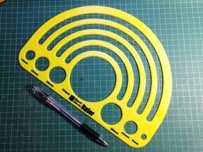 Custom Semi-Circle Ruler/Template