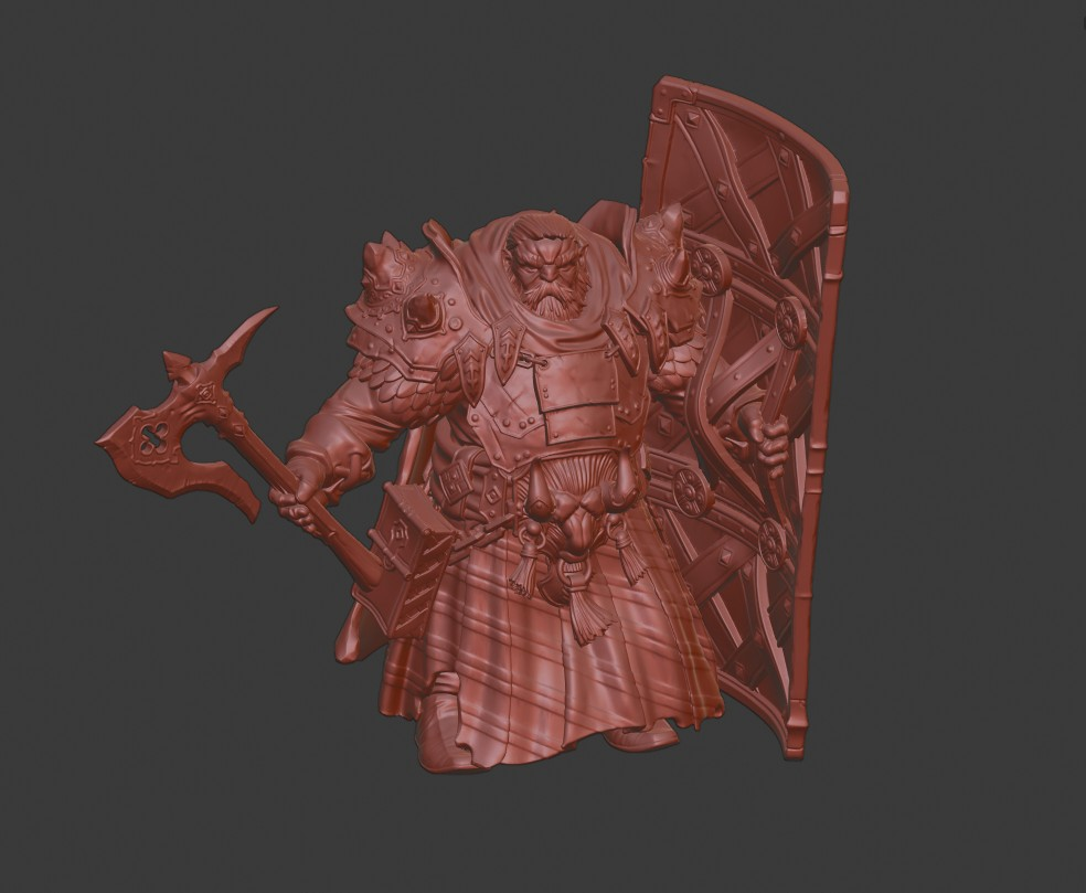 Dwarf with Axe 32 mm PRESUP