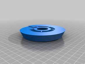 tesla turbine style fan blade.