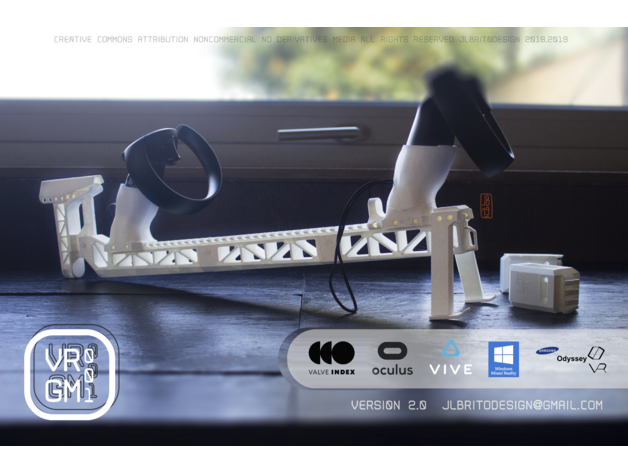 Vrgm Vr Stock V2 For The Oculus Rift Htc Vive Valve Index Windows Mixed Reality Samsung Odyssey By Joaoluisbrito Thingiverse