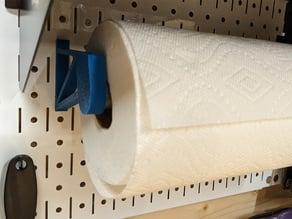 Wall Control Peg Board Paper Towel Brace