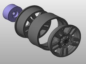 TOYOTA Prado Wheels (scx10/trx4)