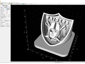 Raiders Shield Extruded