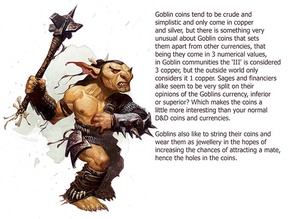 Goblin Copper and Silver Coins for Dungeons & Dragons and Pathfinder Tabletop Roleplaying Games