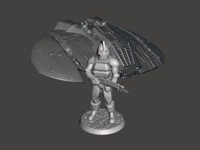 28mm Space Raider Centurion Miniature