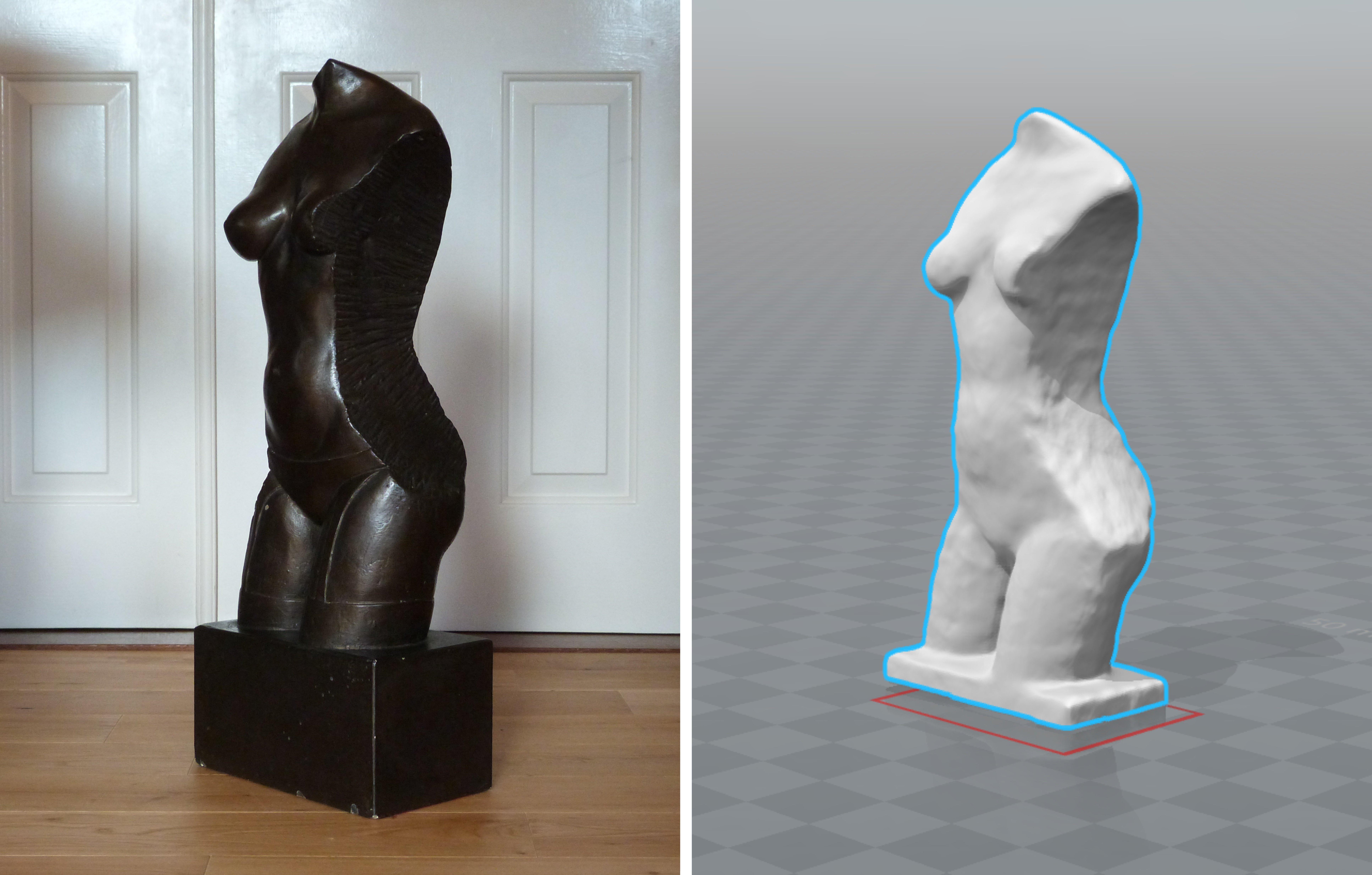 Woman statue scan
